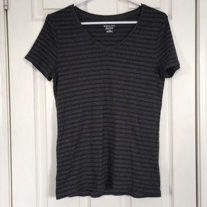 EUC Merona Striped super soft black / grey TShirt